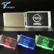 opel logo trangee crystal usb flash drive for opel logo car pendrive usb 2 0