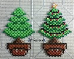 christmas tree mushrooms by perlerpixie deviantart com on
