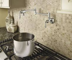 Pot Filler Kitchen Faucet Create A Gourmet Cooktop With Moen S Traditional Potfiller