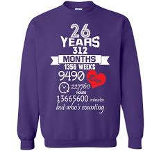 26th wedding anniversary anniversary gift 26th 26 years wedding marriage ideas