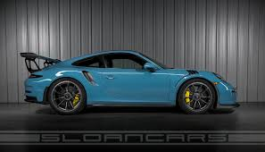 porsche blue gt3 2016 991 gt3rs sloan cars