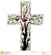 floral christian cross tree shape stock photo image 24934080
