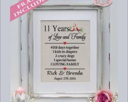 11th anniversary gift ideas 11th anniversary him etsy