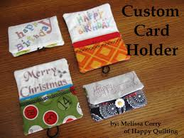 custom gift card holders happy quilting custom card holder tutorial