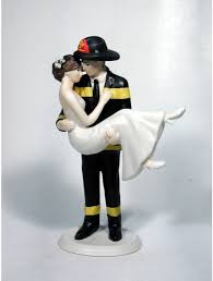 firefighter wedding cake firefighters personalized wedding cake toppers
