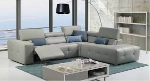 Grey Leather Tufted Sofa Grey Italian Leather Tufted Sectional With Recliner Mechanism Las