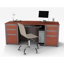 Office Desk Lock office handsome curved top executive desk with metal legs 2