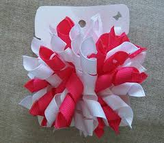 korker bows shocking pink and white korker hair bow the hair bow master