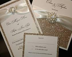 glitter wedding invitations gold glitter wedding invitations weareatlove