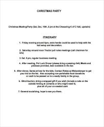 christmas party itinerary template 2017 best template examples