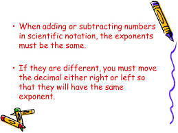 adding subtracting multiplying dividing numbers in scientific