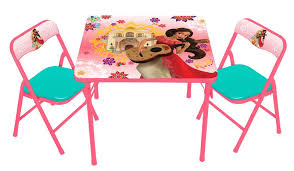 Childrens Folding Table And Chair Set Disney Elena Of Avalor Kids Activity Table And Chairs Set Toys