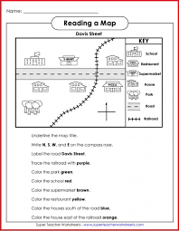 printable map key teach basic map skills with this printable map activity students