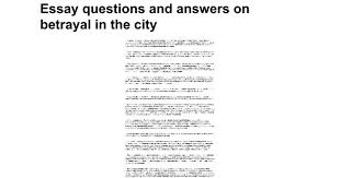 betrayal themes in literature essay questions and answers on betrayal in the city google docs