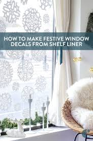 diy window decals how to use shelf liner to get festive curbly