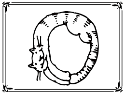 letter o cats animal style alphabet coloring pages www