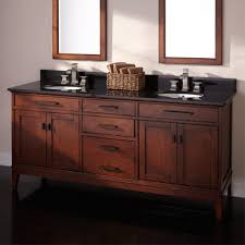 bathroom red cherry wood bathroom vanity mixed grey wall design