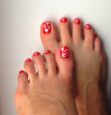 valentine day toes art design beginners red black white different