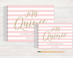 quinceanera guest book quince guest book etsy