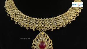 gold with diamond necklace images Uncut diamond necklace design malabar gold and diamonds hybiz jpg
