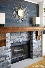 stone vs brick fireplace veneer over painted white makeover design