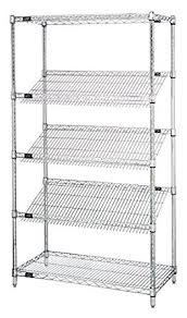 White Wire Shelving Unit by Quantum Storage Systems 1836sl6c 5 Tier Wire Shelving Unit With 3