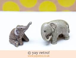 miniature elephant ornaments x 2 vintage shop retro china