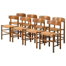 Shaker Dining Chair Børge Mogensen Shaker Dining Chairs By Fdb Møbler In Denmark At