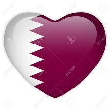 Qatars Flag Qatar Flag Heart Glossy Button Royalty Free Cliparts Vectors And