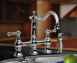 graff kitchen faucet canterbury bridge faucet w spray artisan crafted home