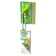 Swiffer Laminate Floor Cleaner Swiffer Sweep And Trap Starter Kit 003700088718 The Home Depot