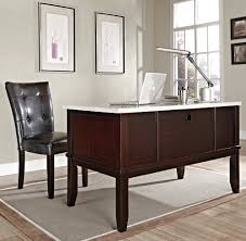 steve silver monarch white marble top writing desk beyond stores