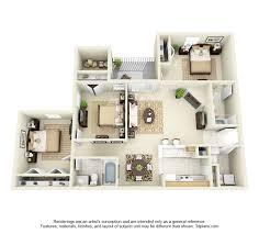 3 bedroom floor plans glade creek 3 bedroom apartment 3d floor plan 1376 sq ft