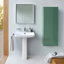 the duravit l cube wall hung tall cabinet in jade high gloss