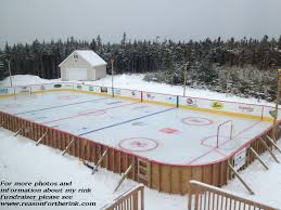 Backyard Rink Ideas Best Backyard Hockey Rinks About Backyard Hockey Rink Gogo