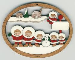 eskimo family 6 313 14 95 wallace wood ornaments quality