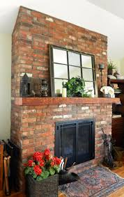 brick veneer fireplace crafts home