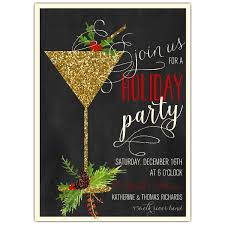 christmas party invitations glitter cocktail swag party invitations paperstyle