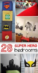 Bedroom Wall Covered In Posters Awesome Superhero Ideas For Kids U0027 Bedrooms