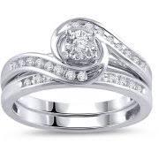 wedding ring sets 2 75 carat t g w cubic zirconia silver tone 2 wedding ring