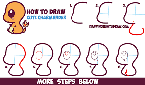 chibi how to draw cute kawaii chibi charmander from pokemon in easy
