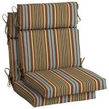 High Back Patio Chair Box Edge Hampton Bay Stripe Outdoor Cushions Patio