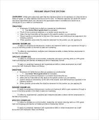 Sample Resume Objective Sentences by Sample Resume Objective Example 7 Examples In Pdf