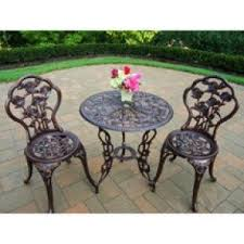 Marble Bistro Table And Chairs Cast Iron Patio Tables Foter