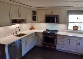 Tiles Backsplash Kitchen by White Kitchen With Pental Quartz Misterio Engineered Quartz