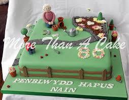 gardening cake vanilla sponge 80 birthday and vanilla buttercream