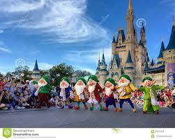 seven dwarfs performancing at walt disney world christmas party