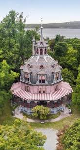 rent this ornate octagon house on the hudson for 40 000 a month