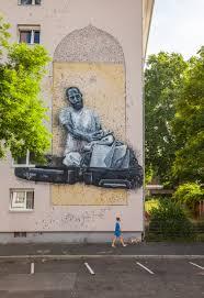 lebanese artist yazan halwani paints mural in mannheim