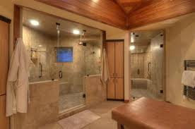 Bathroom Mural Ideas by Walk In Shower Remodel Ideas Modern Shower Features Bold Grain